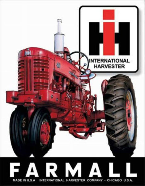Farmall International Harvester Metal Sign 12x18