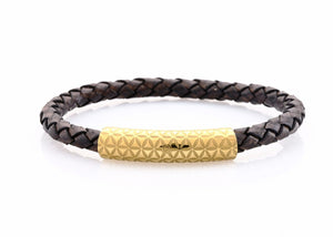 neptn women bracelet MINERVA F.o.L. Gold single 6 anticbrown leather
