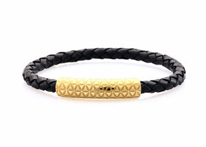 neptn women bracelet MINERVA F.o.L. Gold single 6 schwarz leather