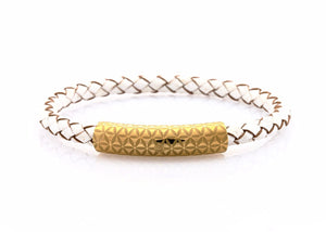 neptn women bracelet MINERVA F.o.L. Gold single 6 white leather