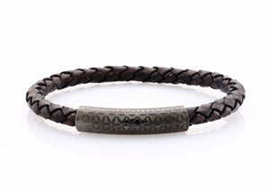 neptn women bracelet MINERVA F.o.L. Schwarz single 6 dark brown leather