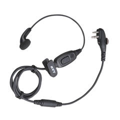 Hytera Earbud With Combined Mic & InLine PTT Intrinsically Safe (ATEX)