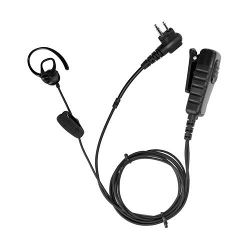 Bone Conduction Earpiece with Lapel Microphone