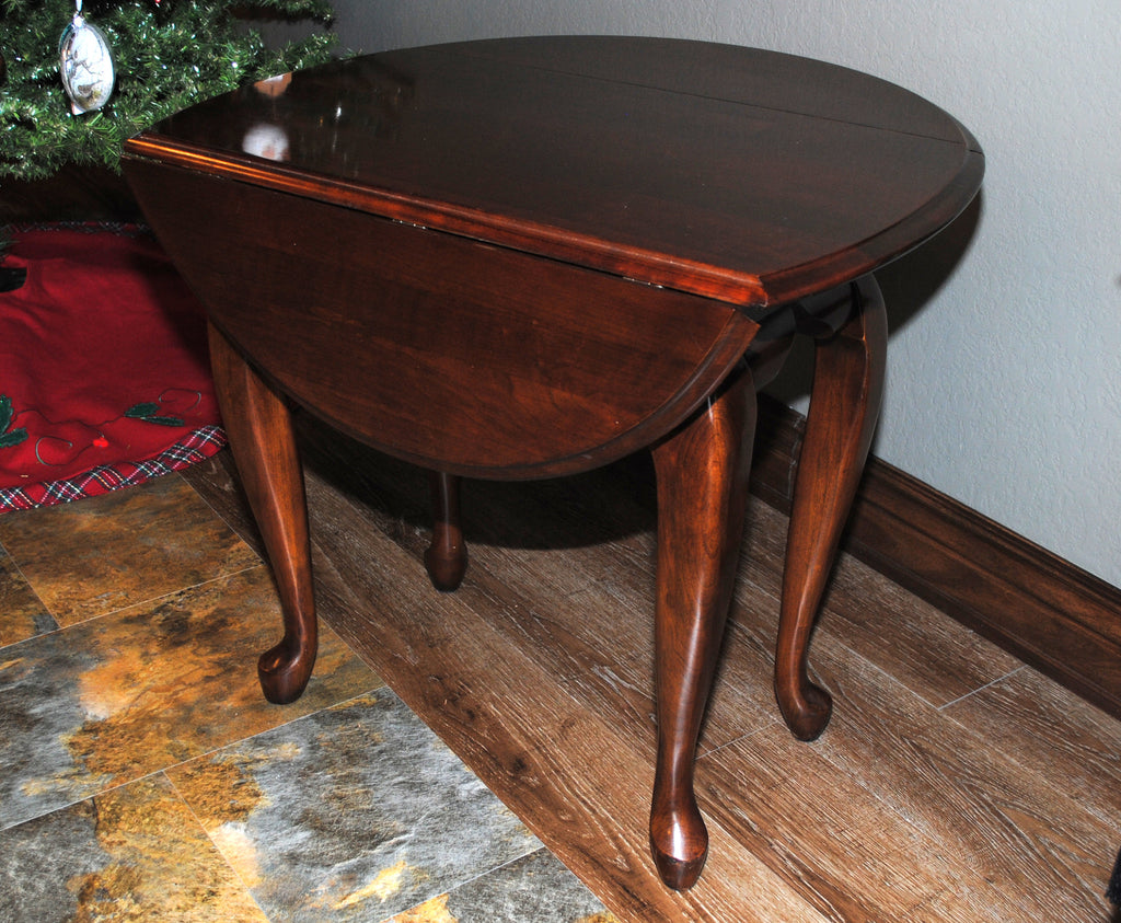 ... Kincaid Queen Anne Style Drop Leaf Side Table ...