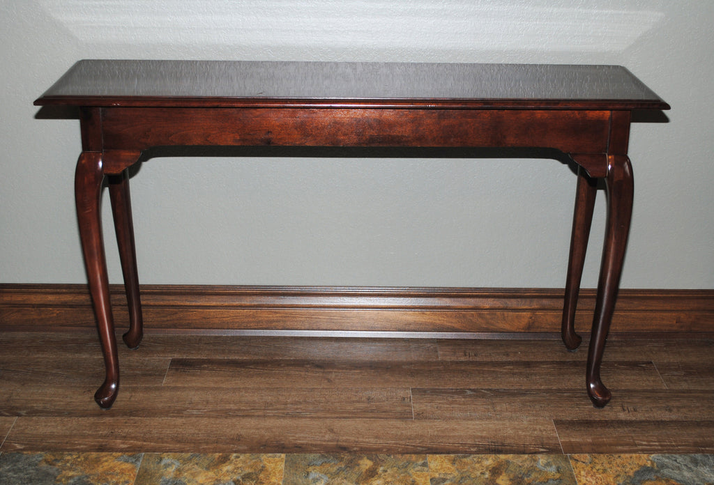 Kincaid Queen Anne Style Sofa Table Cherry Wood Rosewood