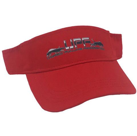 L - UPF Red Visor