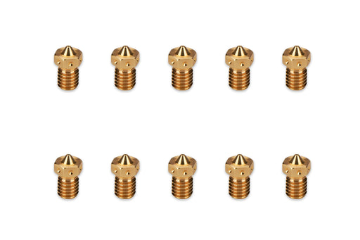 PROPACK Prusa E3D V6 Specific Brass Nozzle 1.75mm x 0.40mm Pack of 10