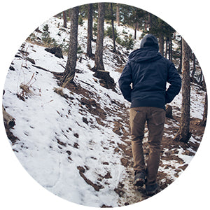 go on a winter hike instead of the germy gym