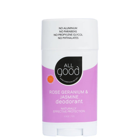 All Good Rose Geranium & Jasmine Deodorant - eVitality.ca
