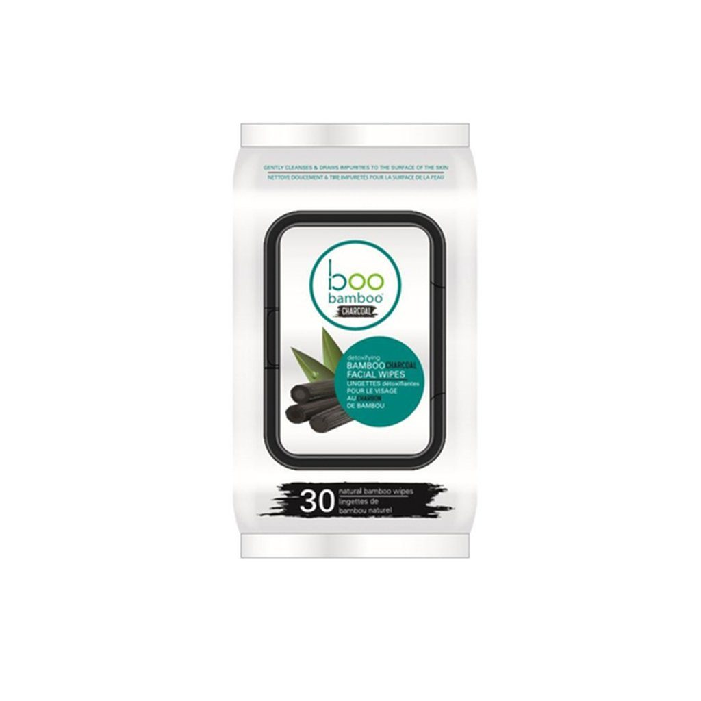 Boo Bamboo Charcoal Facial Wipes - eVitality.ca