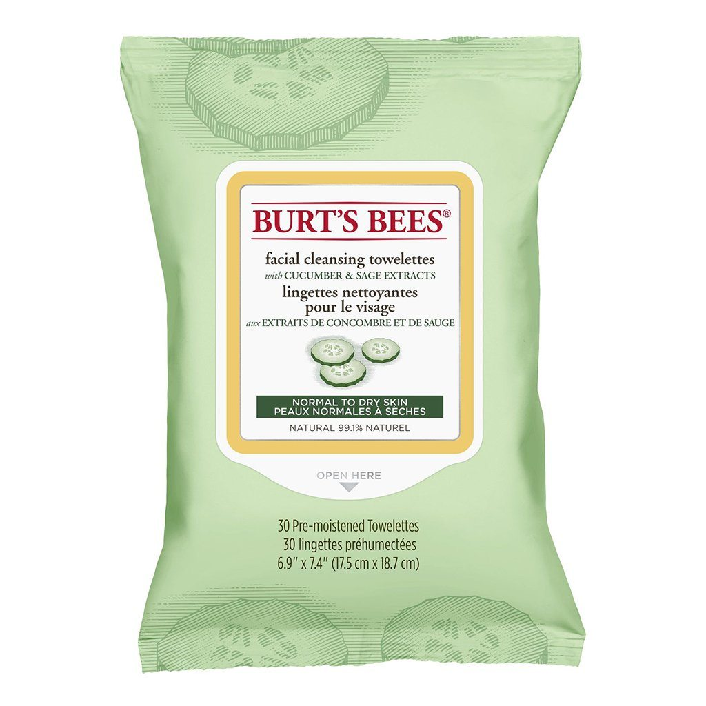 Burt's Bees Facial Cleansing Towelettes with Cucumber & Sage - eVitality.ca