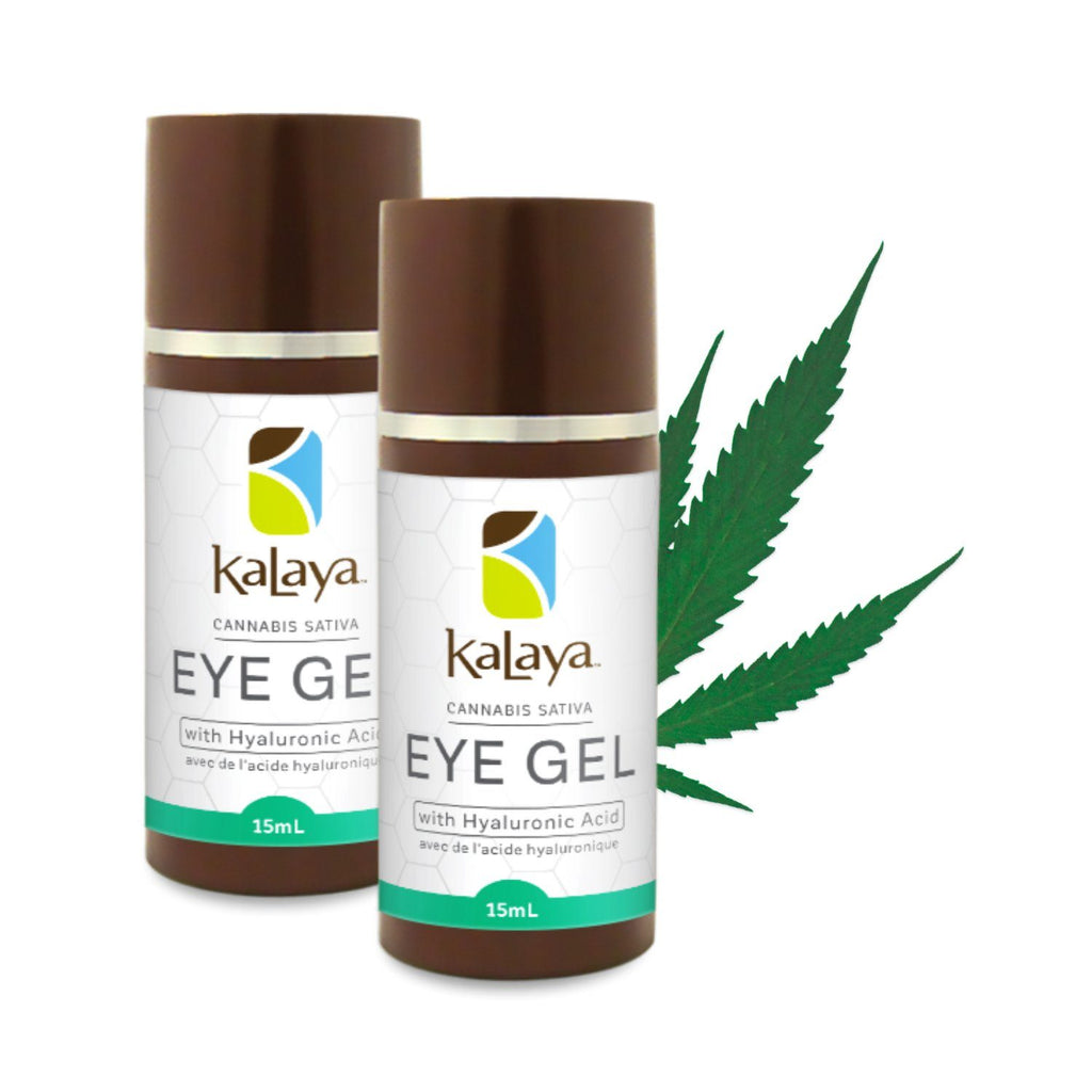 DUO of Kalaya Cannabis Sativa Seed Oil Eye Gel with Hyaluronic Acid - eVitality.ca