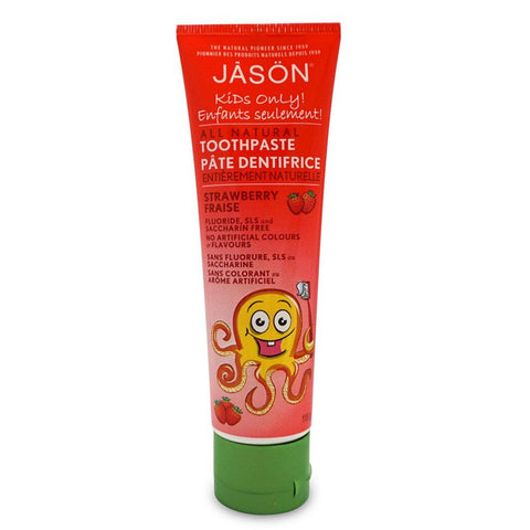 Jason Naturals Kids Strawberry Toothpaste - eVitality.ca