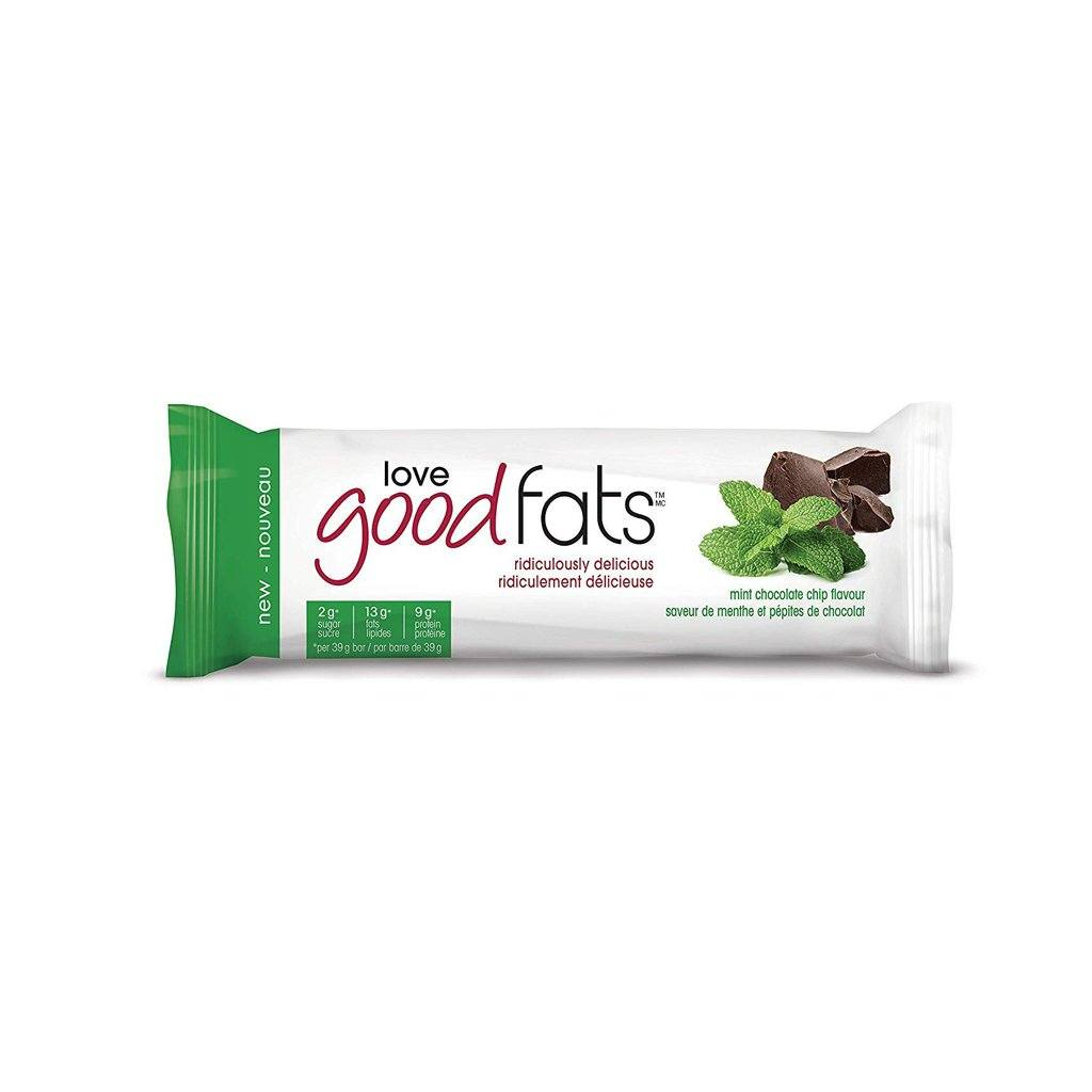 Love Good Fats Mint Chocolate Chip Snack Bar - eVitality.ca