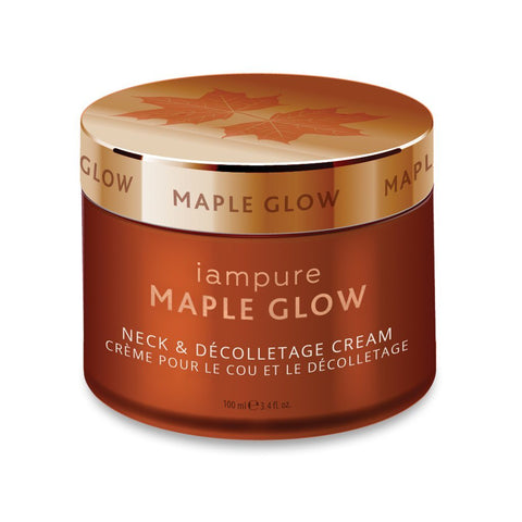 iampure Maple Glow Neck & Décolletage Cream - eVitality.ca