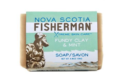 Nova Scotia Fisherman Fundy Clay & Mint Bar Soap - eVitality.ca