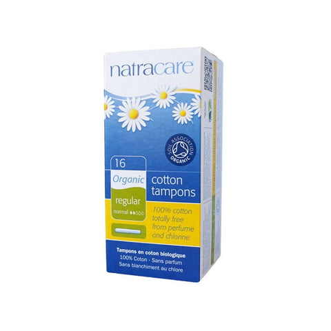 Natracare Organic Cotton Tampons - eVitality.ca