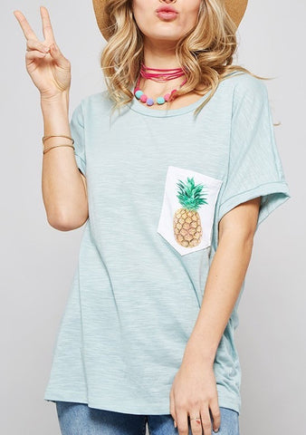 Blue Pineapple Tee