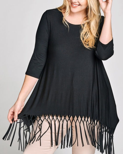 Plus Fringe Tunic