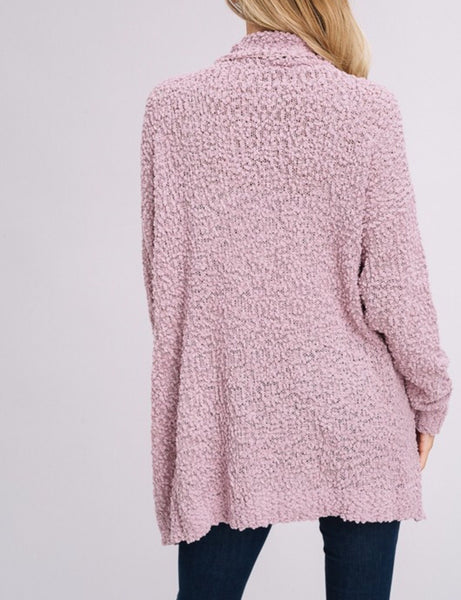 The Joey Cardigan in Mauve