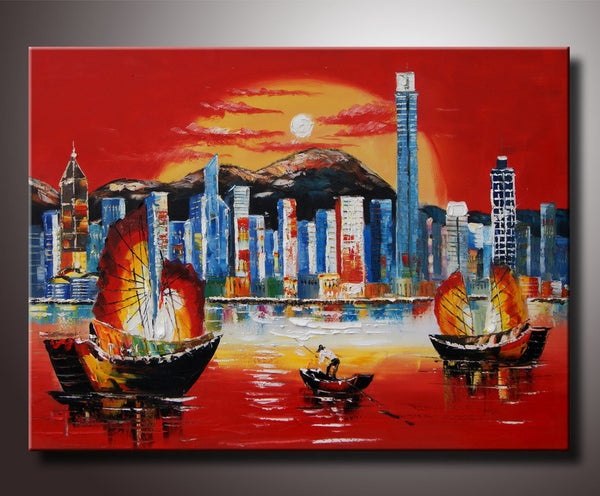 Hong Kong Art Painting 40x30in