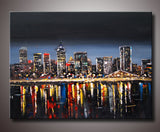 Montreal City Art Painting 40x30in