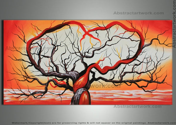 Orange Tree Love Painting 48x24in