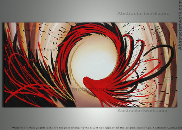 Red Canvas Art Painting 146 - 48x24in