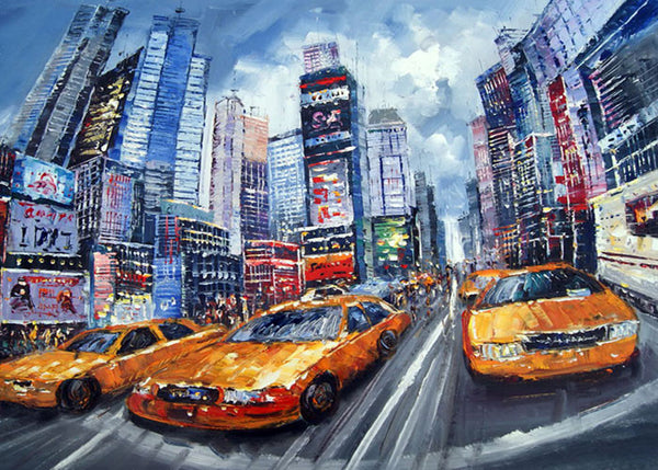 New York City Taxi Painting 40x30in