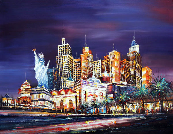Las Vegas Cityscape Painting 40x30in