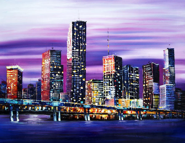 Bridge Painting Miami 40x30in