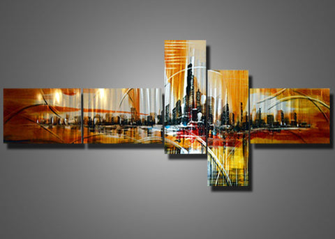 Cityscape Metal Wall Art 193 96x40in