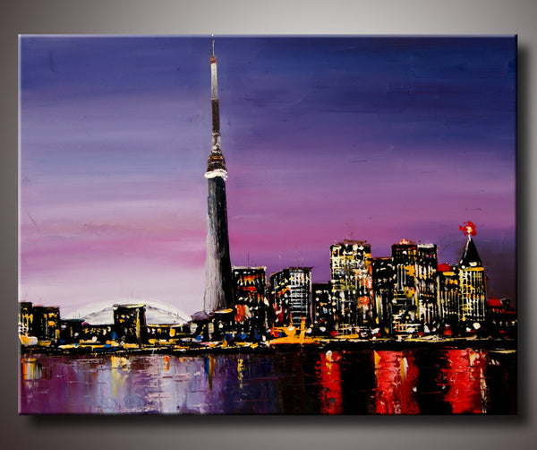 Toronto Night Knife Art - 40x30in
