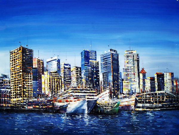 Vancouver Port Painting 40x30in