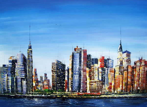 Manhattan Cityscape Painting - 40x30in