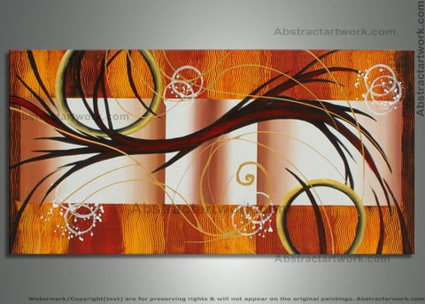 1 Panel Orange Wall Artwork 262 - 48x24in