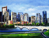 Calgary Cityscape Painting - 40x30in