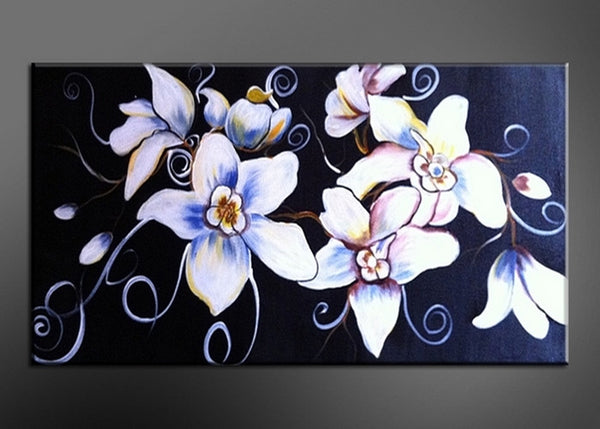 Blue Flower Oil Painting 304s - 20x20in