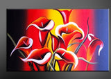 Red Yellow Flower Painting 315s -  32x16in