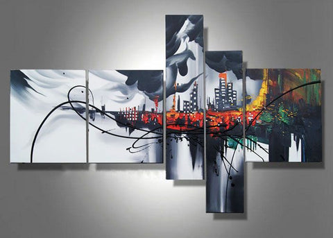 Abstract Architecture Painting 324 - 63x33in