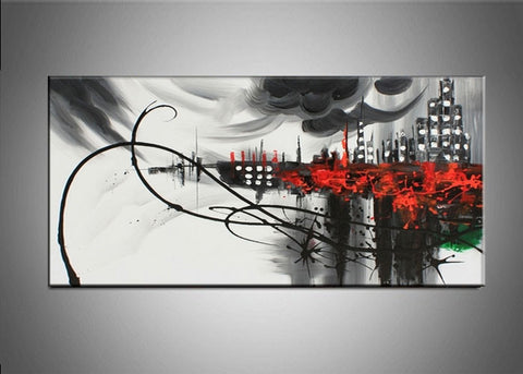 Abstract Cityscape Art  324s - 32x16in
