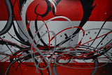 Modern Red Abstract Art 331s - 32x16in