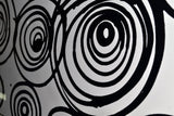 Contemporary Black & White Painting 389s - 32x16in