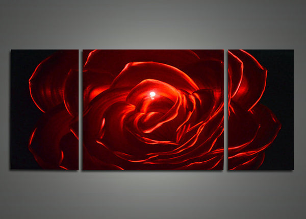 Modern Red Rose Art Painting 48x24in