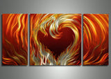 Metal Art 48x24 - Love on Fire