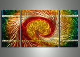 Vortex Metal Art Painting - 48x24