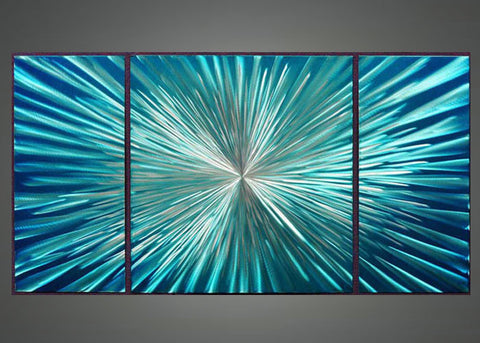 Blue Metal Art Aluminium - 48x24