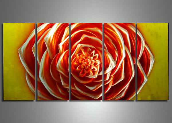 Rose Flower Metal Art Painting - 60x24