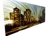 Metal Wall Art Cityscape Art 60x24in
