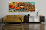 Reflexion Metal Artwork 60x24in.